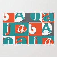 typo Area & Throw Rugs featuring Bajaja Typo by Bajaja