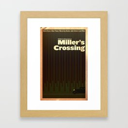 Film Friday No. 3, Miller's Crossing Framed Art Print