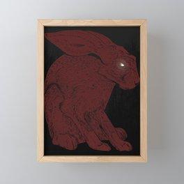 hare Framed Mini Art Print