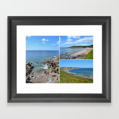 Gower Peninsula Collage Framed Art Print