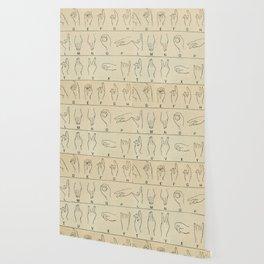 Sign Language Alphabet Wallpaper