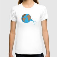 globe T-shirts featuring World globe by Tony Vazquez