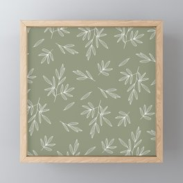 Olive in Olive Framed Mini Art Print