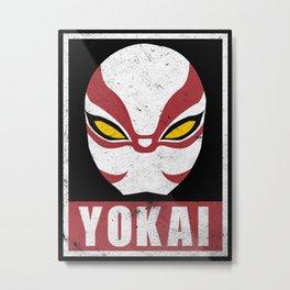 OBEY Yokai Metal Print