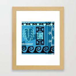 Hawaiian Pattern #1 - aqua! Gerahmter Kunstdruck