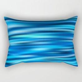 Blue Tussle Rectangular Pillow