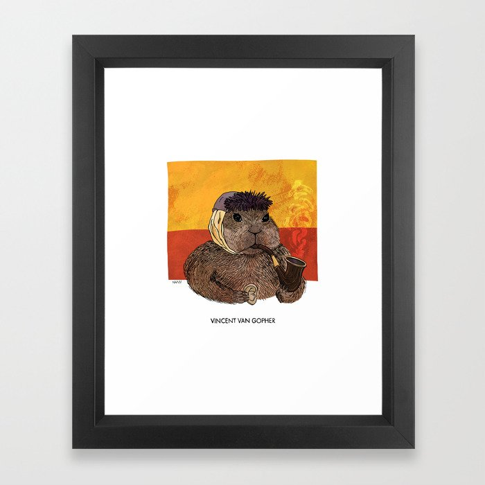 Vincent van Gopher Framed Art Print