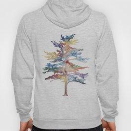 Fir Tree Acrylic Painting Hoody