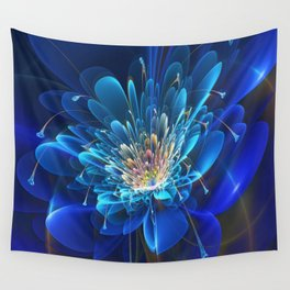 3D Blue Flower V4 Wall Tapestry
