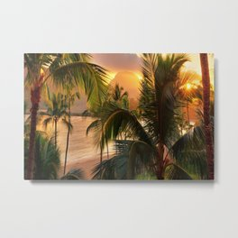 Kauai Tropical Island by OLena Art Metal Print
