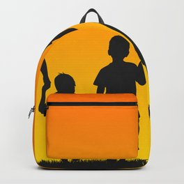 Family silhouettes shirt Backpack
