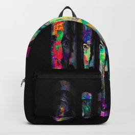 dollar bill with colorful painting abstract in blue red yellow green Backpack