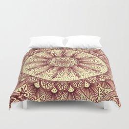 mandala: maroon Duvet Cover