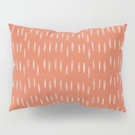 Boho, Raindrop, Mudcloth, Terracotta Pillow Sham