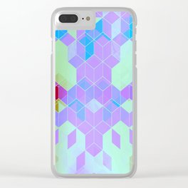 Purple Groove Clear iPhone Case