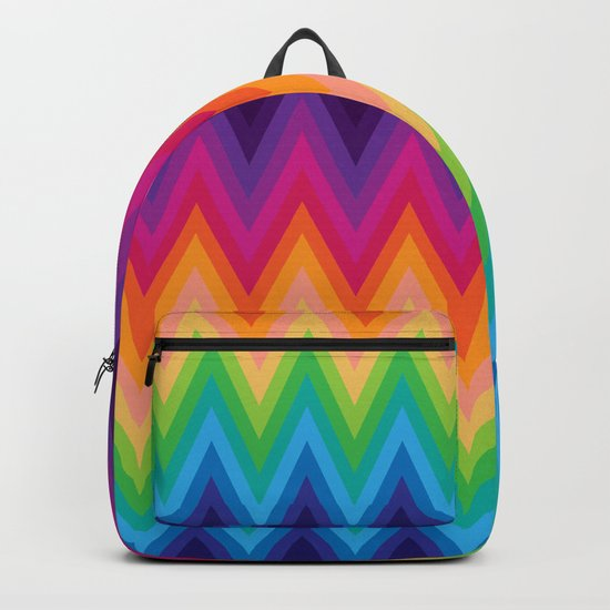 Zig Zag Chevron Pattern G291 Backpack