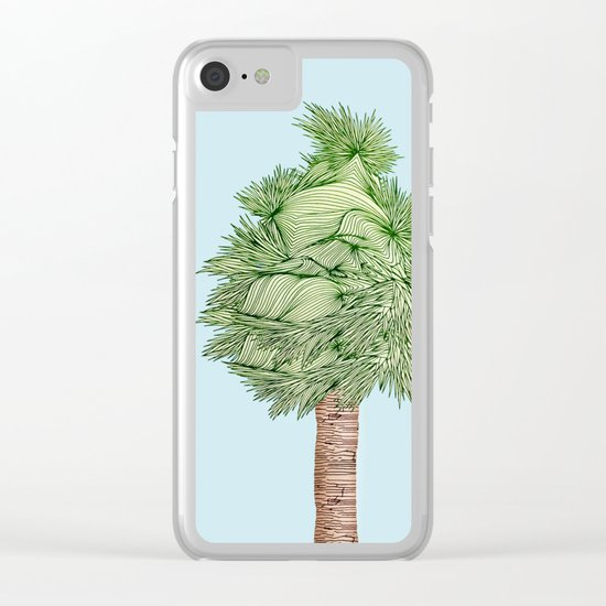 Sun and Tree Clear iPhone Case