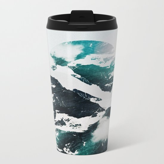 My head is an animal Metal Travel Mug