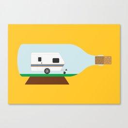 Caravan in a bottle Canvas Print