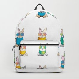 Bunnies Rabbits wear Sunglasses Backpack