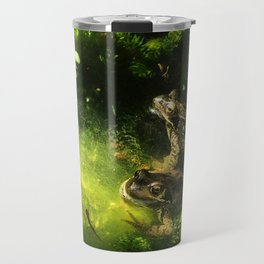 Frogs & Newts in the Garden Pond Travel Mug