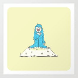 Leon the friendly Yeti Art Print