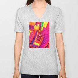 Pop Art Stairwell Abstract Unisex V-Neck