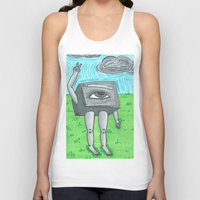 technology Tank Tops featuring Technology life by Diane McGregor Art