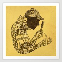 Man of Many Words Art Print