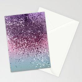 Unicorn Girls Glitter #6 #shiny #pastel #decor #art #society6 Stationery Cards