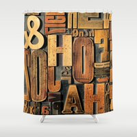 letters Shower Curtains featuring Letters by BONB