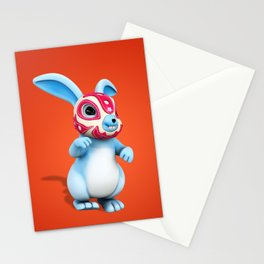 Lucha Rabbit-Blue Brother Stationery Cards