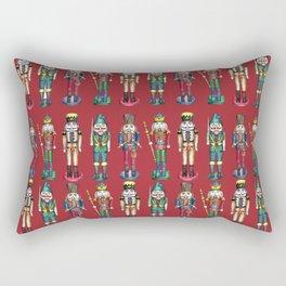 The Nutcracker Prince Pattern Red Rectangular Pillow