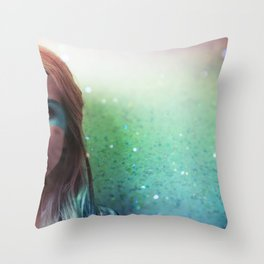 Glitter and grease. Throw Pillow