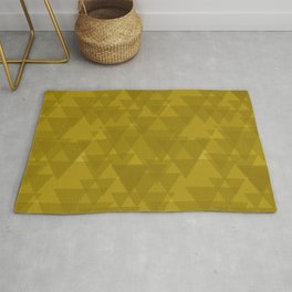 Gentle mustard triangles in the intersection and overlay. Rug