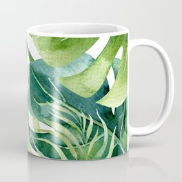 Tropical Jungle Leaves Coffee Mug