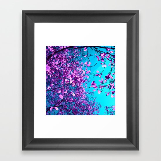 purple tree XXIII Framed Art Print