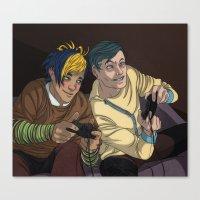 video games Canvas Prints featuring Video Games by Viktor Macháček