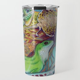 A Tangle Of Lizards, Lizard Art Travel Mug