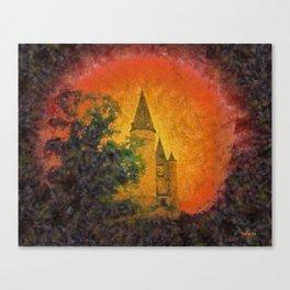 Château de Vêves - Jupiter rising - Belgium Canvas Print