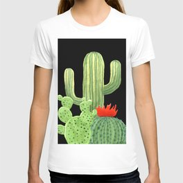 Perfect Cactus Bunch on Black T-shirt