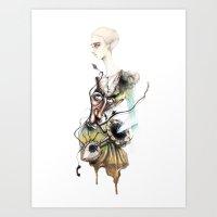 dali Art Prints featuring Dali by ginosunscreen