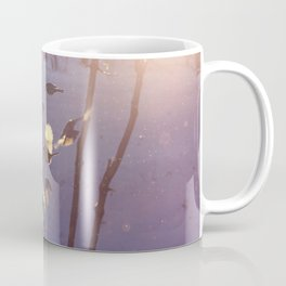 titmouse flew to the feeder in winter Coffee Mug