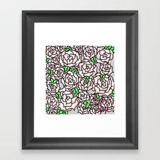 Roses & Roses Framed Art Print