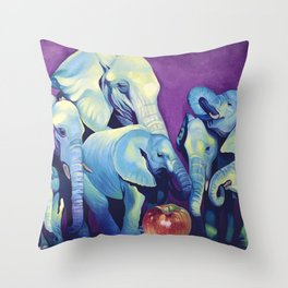 Elephat's Soccer Throw Pillow