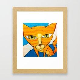 Cute Orange Kitty Framed Art Print