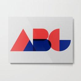 Geometric ABC Metal Print