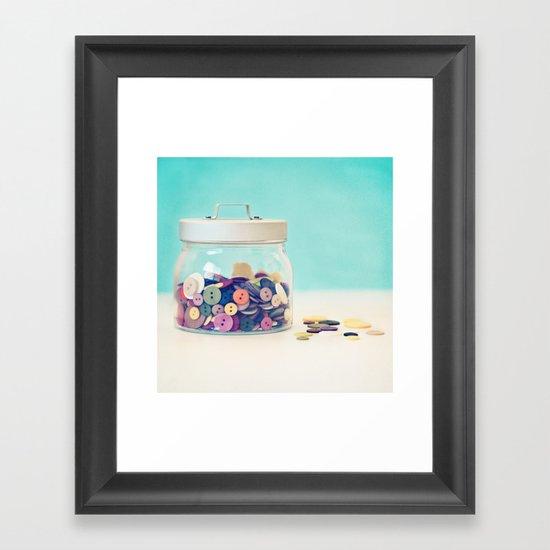 Where's Baby's Button? Framed Art Print