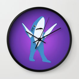 Left Shark Wall Clock