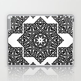 Celtic Knot Ornament Pattern Black and White Laptop & iPad Skin